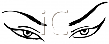 Royalty Free Clipart Image of Asian Eyes #176253.