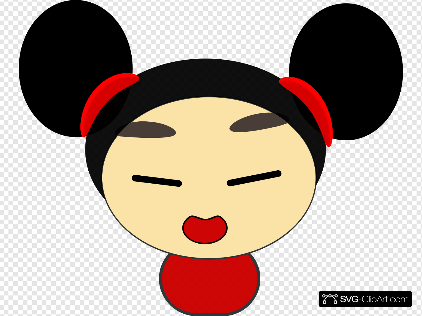 Asian Girl Clip art, Icon and SVG.