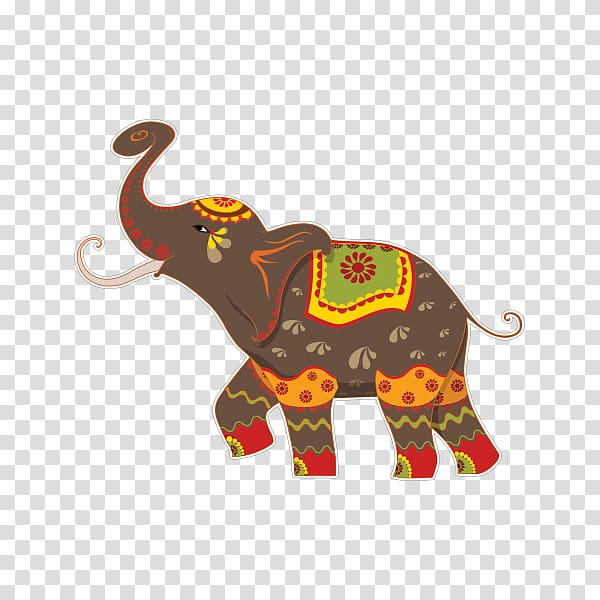 Elephants Indian elephant Elephant Festival Illustration.