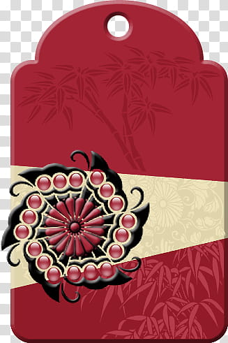 Asian Dream, red and black floral decorative frame.