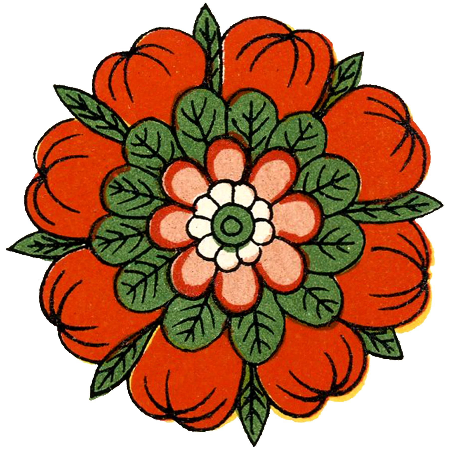 Vintage Asian Floral Design Image!.