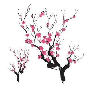 Cherry blossom silhouette.