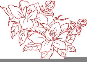 Asian Flower Clipart.