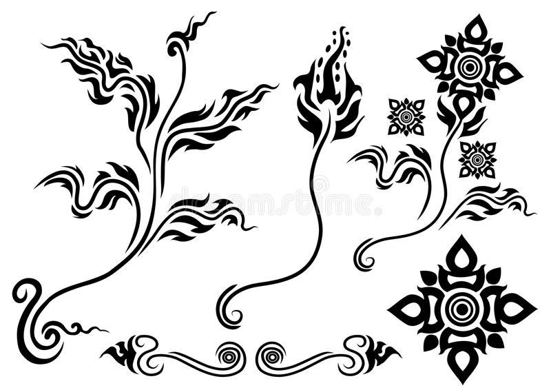 Asian Flower Stock Illustrations.