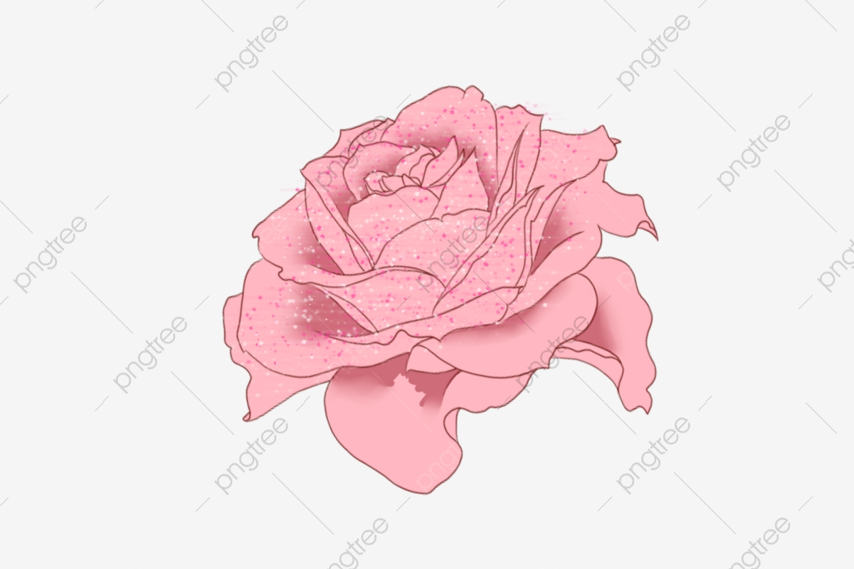 Pink Hand Painted Flower Leaf Flower Illustration Watercolor Flowers.