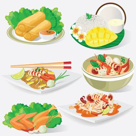 9,063 Thai Food Cliparts, Stock Vector And Royalty Free Thai Food.