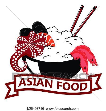 Asian Food, logo Clip Art.