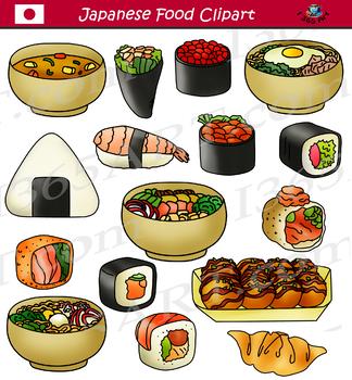 Japanese Food Clipart Bundle Asian Food.