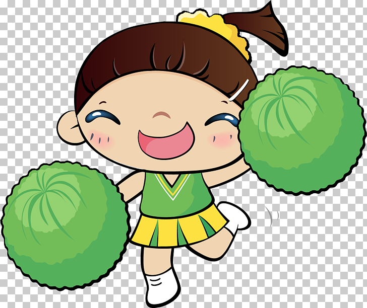Cooking Asian cuisine Rice Cartoon , Cheerleader girl PNG.