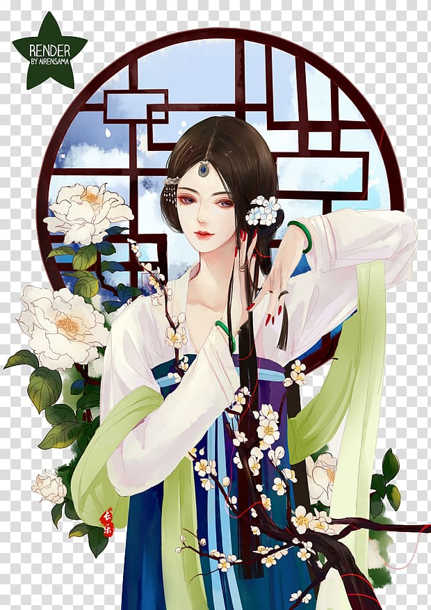Chinese Art transparent background PNG cliparts free.