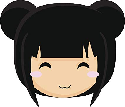 Amazon.com: Happy Cute Blushing Asian Anime Girl Cartoon.