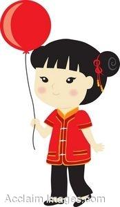 Clipart asian girl.