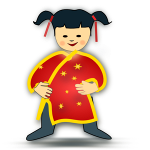 Asian girl clipart.