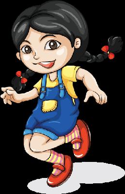 Happy Asian Girl Dancing.