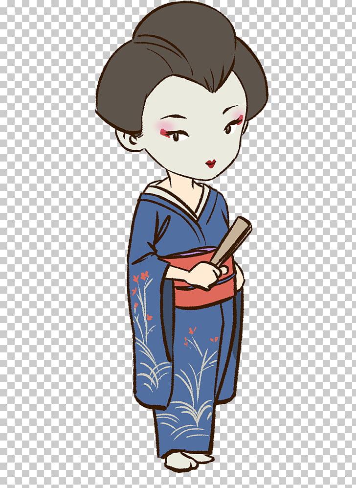 Geisha Japanese art Drawing , asian girl PNG clipart.