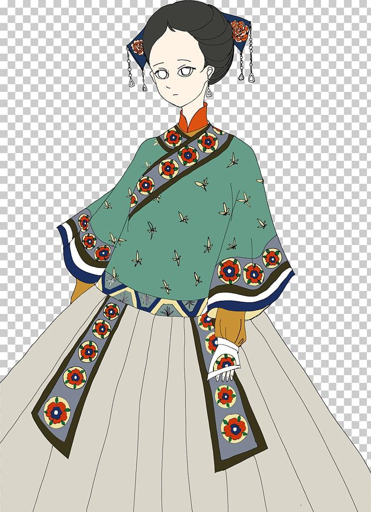 Art , asian girl PNG clipart.