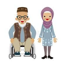 Image result for muslim asian grandfather clip art.