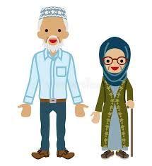 Image result for muslim asian grandmother clip art.
