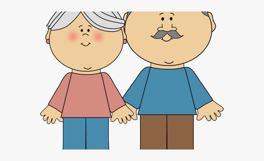 Grandma And Grandpa Clipart.