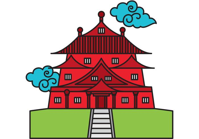 Chinese Temple Vector.