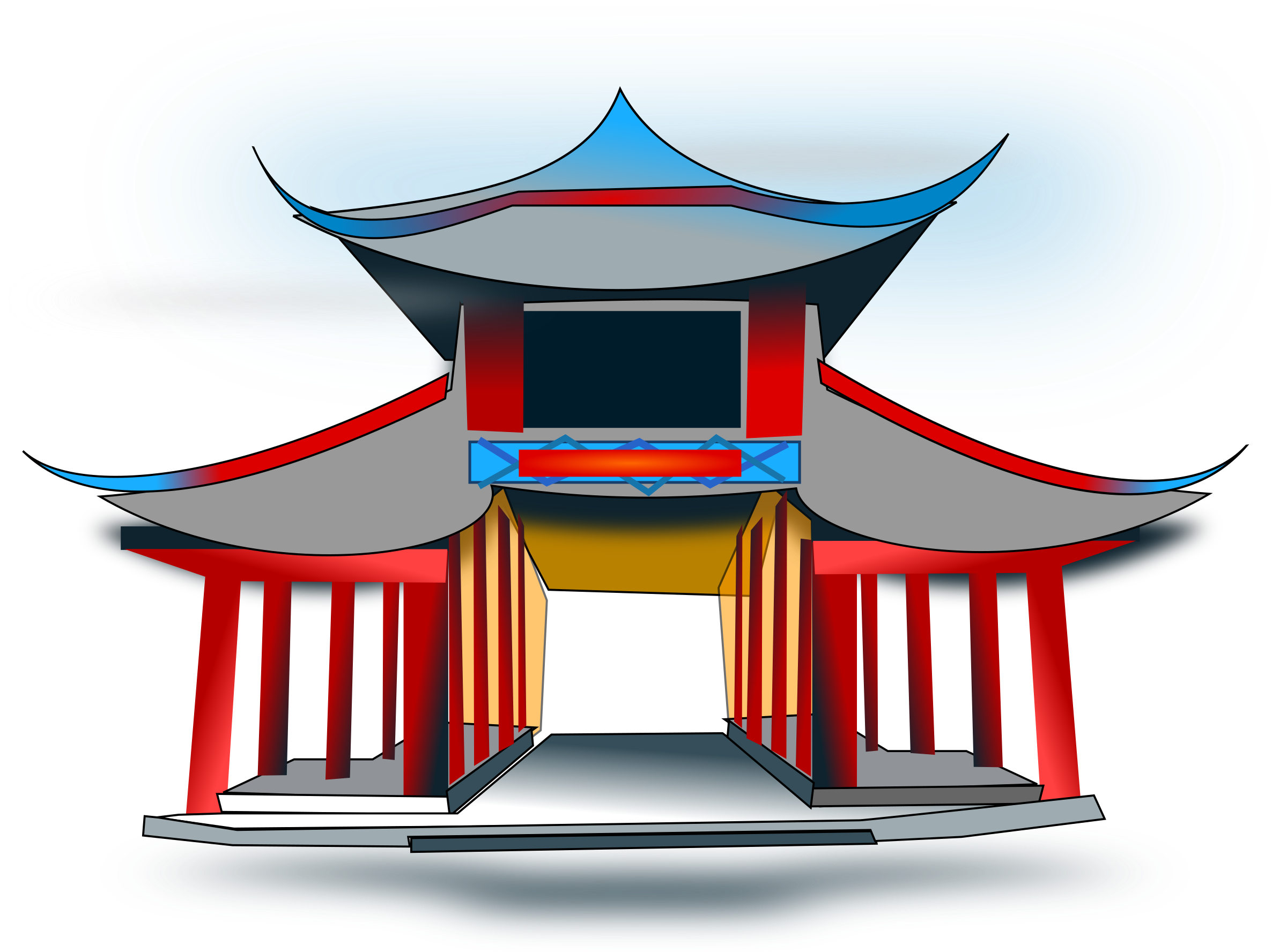 Chinese Building Clipart.