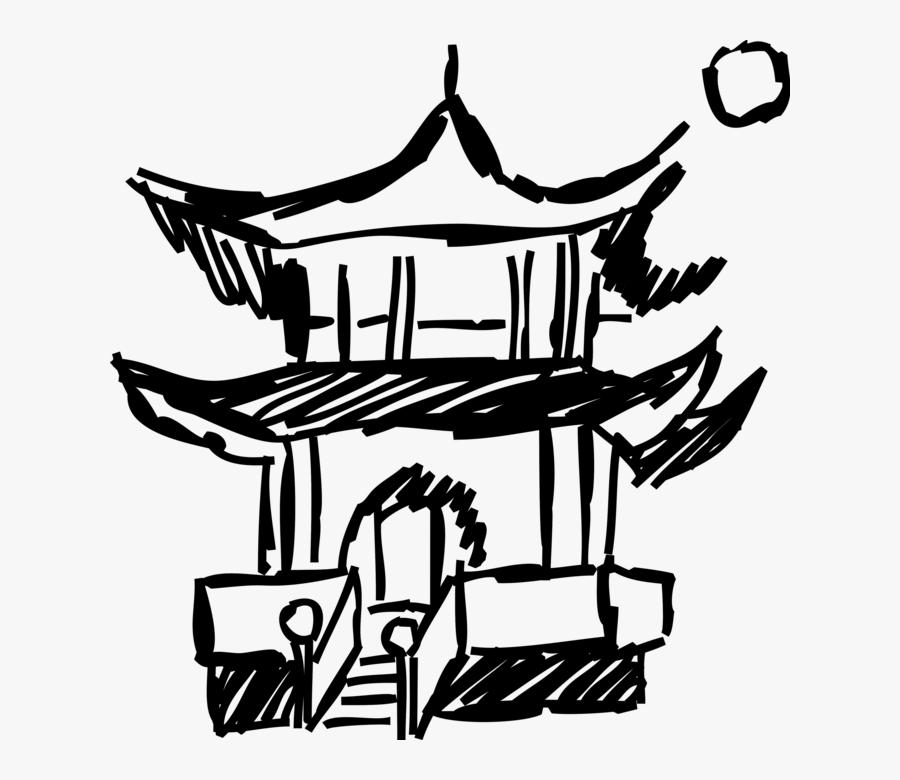 Asian Pagoda Temple Architecture.