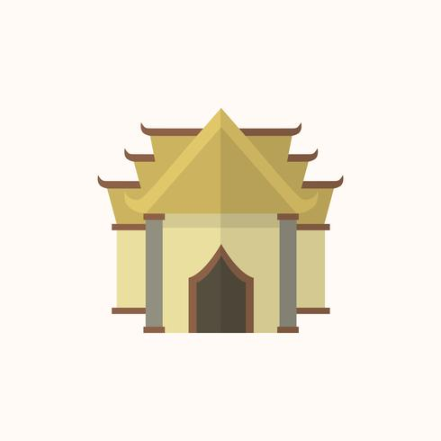 Illustration of a buddhist temple.
