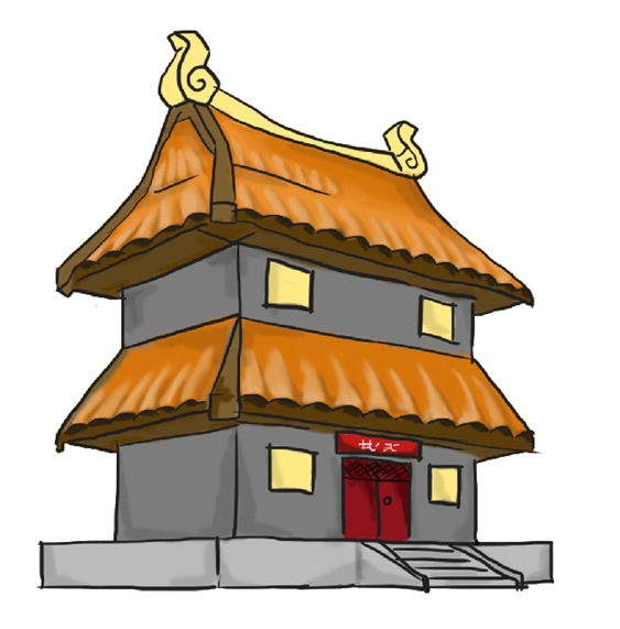 Free Chinese House Drawing Step By Step, Download Free Clip.