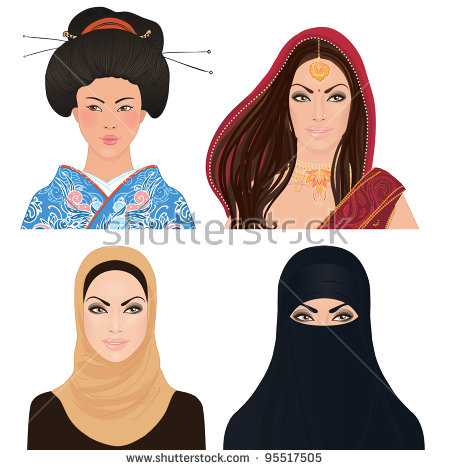 Muslim Female Stock Vectors, Images & Vector Art.