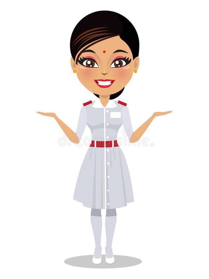 Indian Nurse Stock Illustrations.