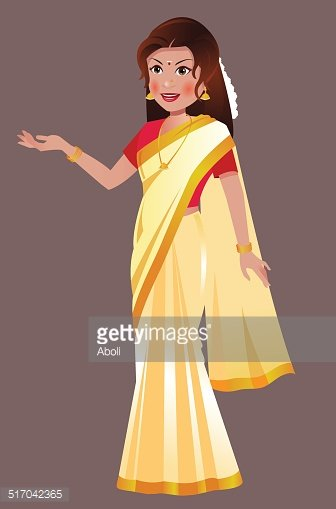 South Asian/ Indian Woman Standing IN Traditional White Saree.