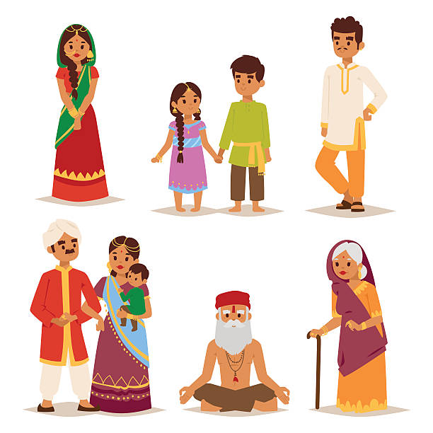 Best South Asian Couple Illustrations, Royalty.