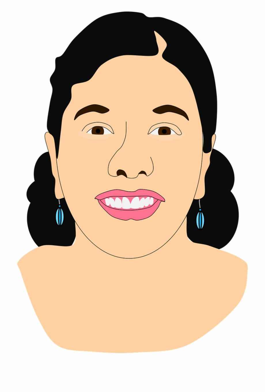 Asian Indian Face Indian Lady Png Image.