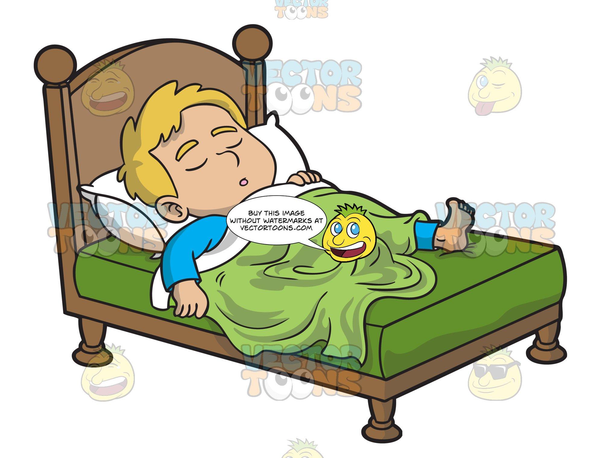 A Boy Sleeping Comfortably.