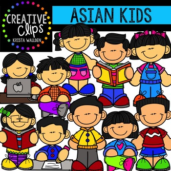Asian Kids {Creative Clips Clipart}.