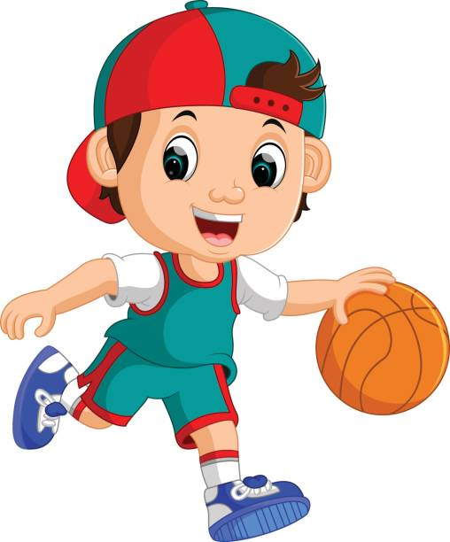 Best Asian Kid Playing Basketball Illustrations, Royalty.