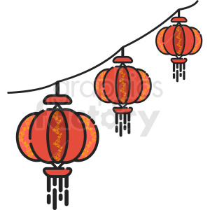 chinese lantern icon . Royalty.