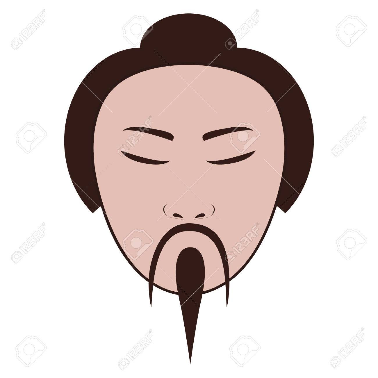 East Asian Man Icon Image Vector Illustration Design Royalty Free.