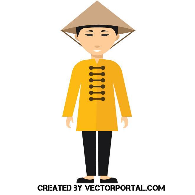 Asian man.