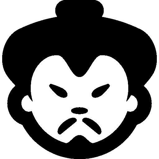 Asian man face.