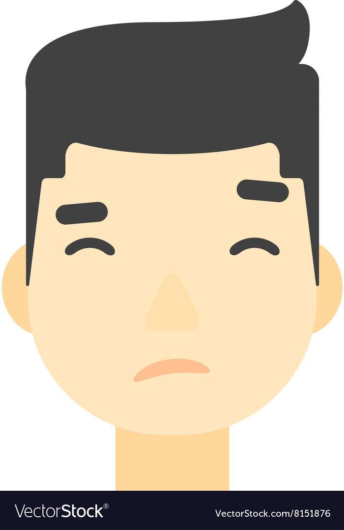 Asian nvious man.