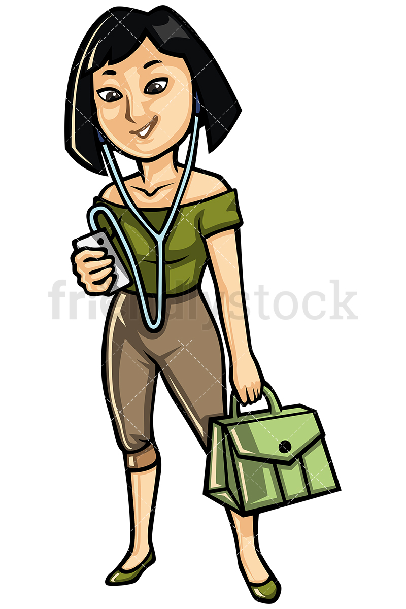 Asian Lady Clipart.