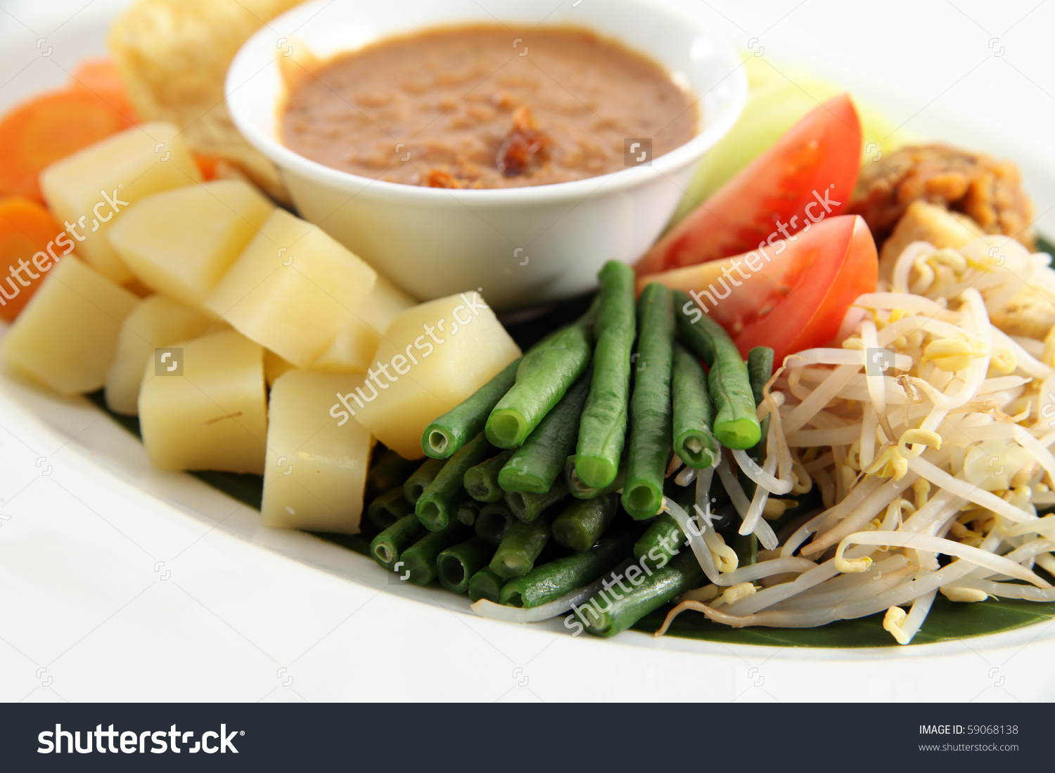Peanut Sauce Eastern Cuisine Named Gadogado Stock Photo 59068138.