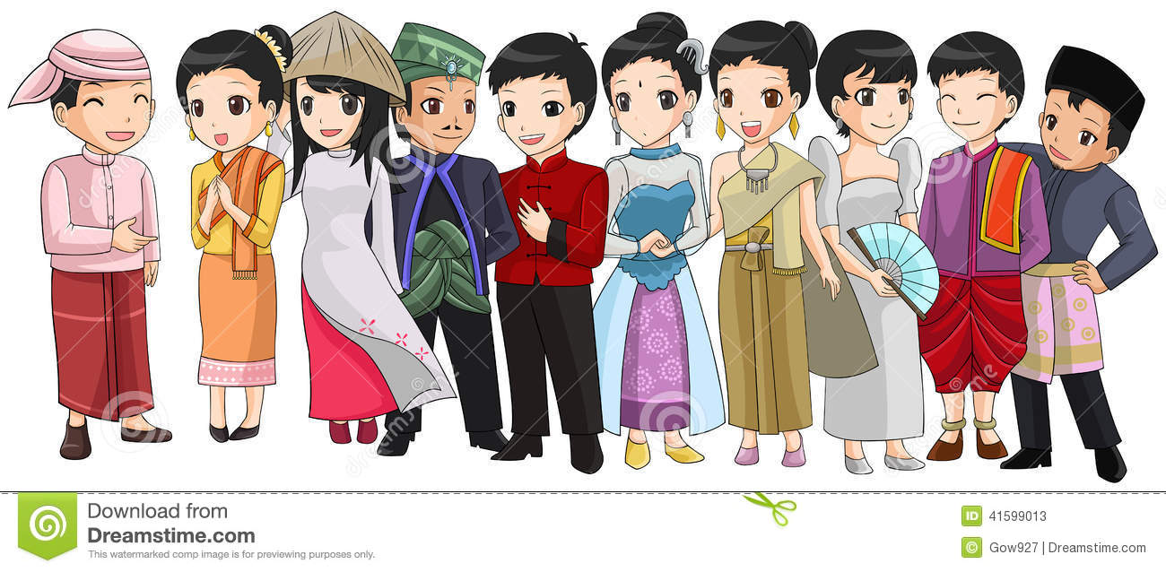 Asean people clipart.