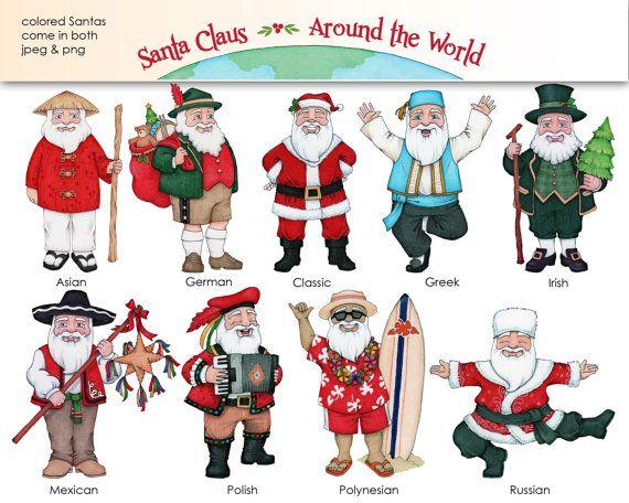 Santa Claus Around the World.