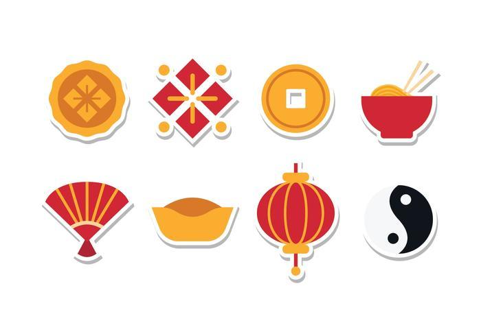 Free Chinese Sticker Icon Set.