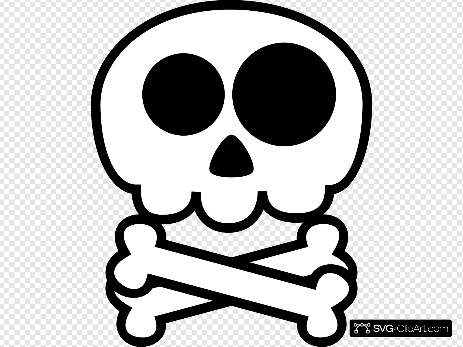 Cute Skull And Crossbones Clip art, Icon and SVG.