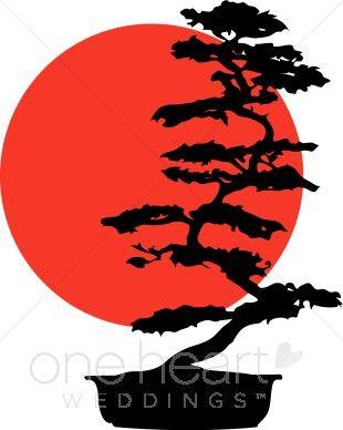 Bonsai Tree Silhouette.