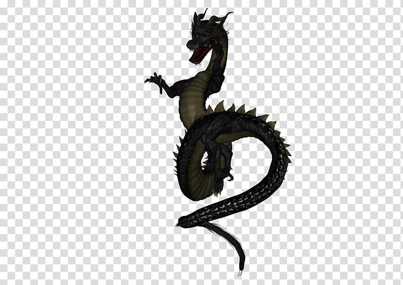 Asian Dragon , black dragon illustration transparent.