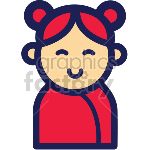 chinese new year asian woman clipart. Royalty.